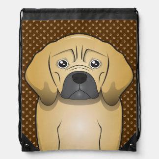 Puggle Dog Cartoon Paws Backpack
