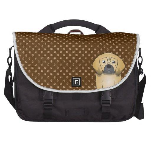 Puggle Dog Cartoon Paws Laptop Commuter Bag