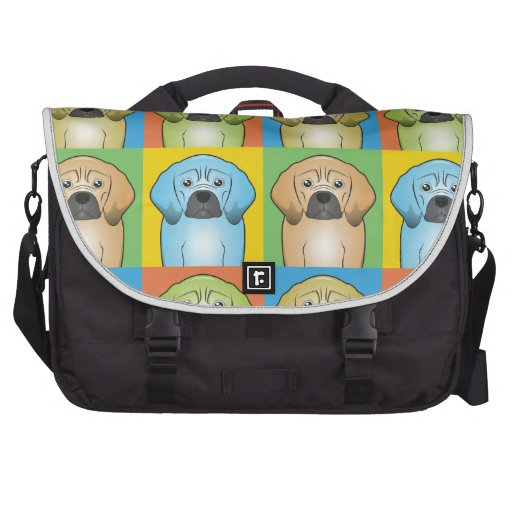 Puggle Dog Cartoon Pop-Art Laptop Bag
