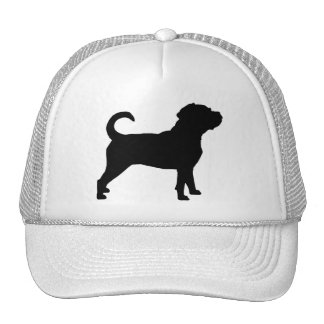 Puggle Dog Silhouette Hats