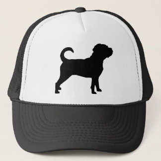Puggle Dog Silhouette Trucker Hat