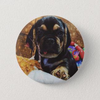 Puggle love 6 cm round badge