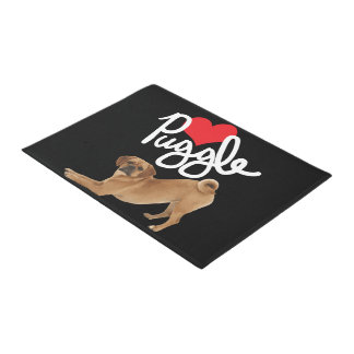 Puggle Love Welcome Mat | By Mini Brothers