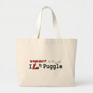 Puggle Lovers Gifts Tote Bags