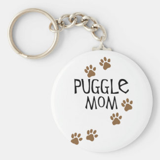 Puggle Mom Key Ring