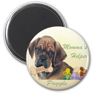 Puggle Momma s helper magnet