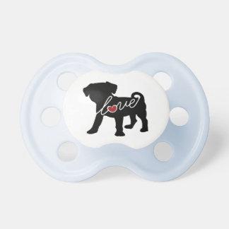 Puggle (Pug / Beagle) Love Baby Pacifiers