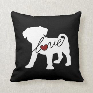Puggle (Pug / Beagle) Love Cushion