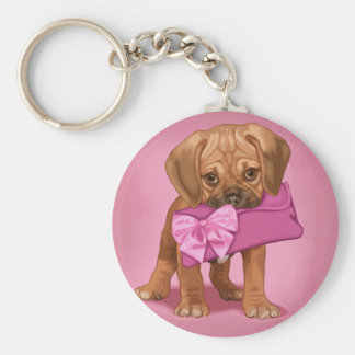 Puggle Puppy and Clutch Key Ring
