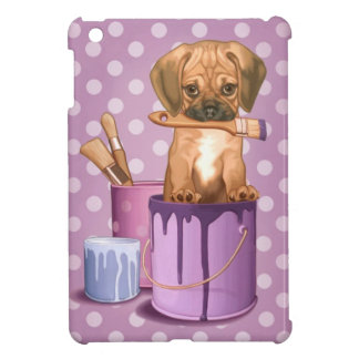 Puggle puppy in painting pot cover for the iPad mini