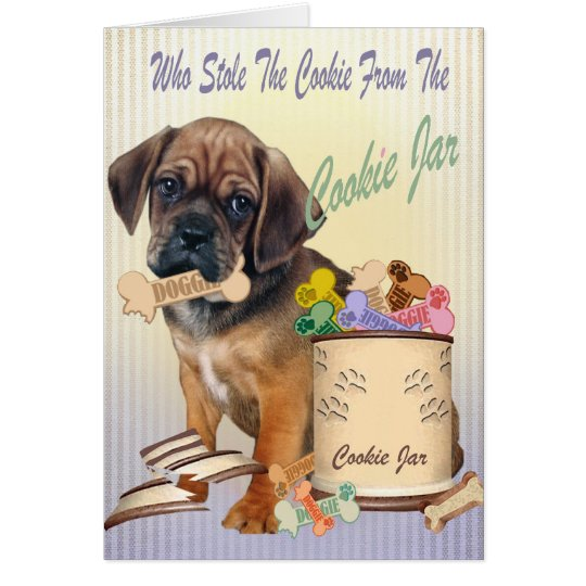 Puggle Stole Cookie From Cookie Jar Cards