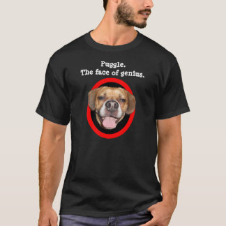 Puggle. The face of genius. T-Shirt