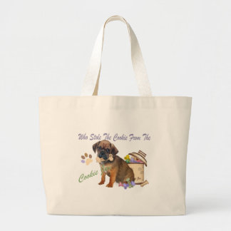 Puggle Who Stole The Cookie From Cookie Jar Gifts Tote Bags