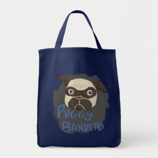 Puggy Bandito Tote Bags