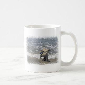puggy basic white mug