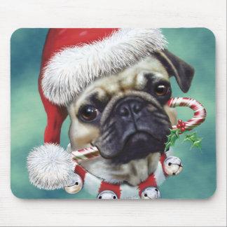 Puggy Christmas Mouse Pad
