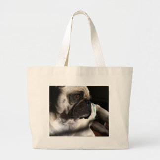 Puggy for your thoughts tote bag