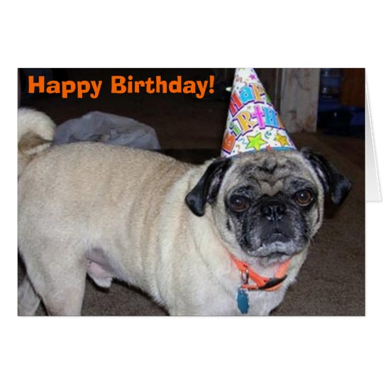 Puggy Greetings: Birthday Card