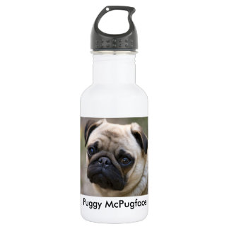 Puggy McPugface 532 Ml Water Bottle