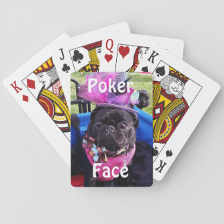 """Puggy """"Poker Face"""" Playing Cards"""