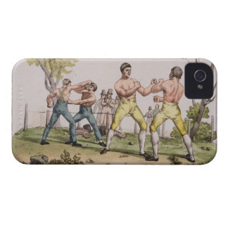 Pugilists, plate 31 from 'The History of the Natio iPhone 4 Cover
