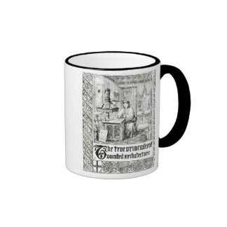 Pugin at work, frontispiece from 'True Principles Ringer Mug