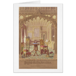 Pugin's Gothic Furniture, by Augustus Charles Pugi Greeting Card