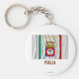 Puglia waving flag with name key ring