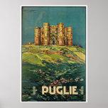 """""""Puglie ( Puglia ) Vintage Italian Travel Poster"""