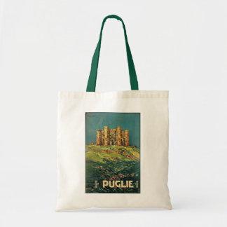 """Puglie ( Puglia ) Vintage Italian Travel Poster Budget Tote Bag"