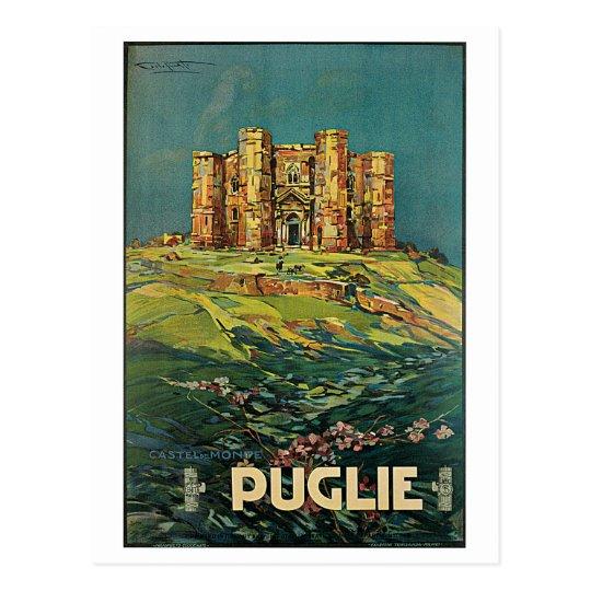 """""""Puglie ( Puglia ) Vintage Italian Travel Poster Postcard"""