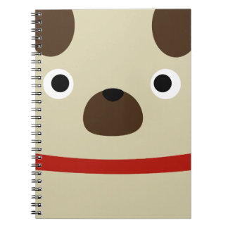 Pugly Pug Spiral Notebook