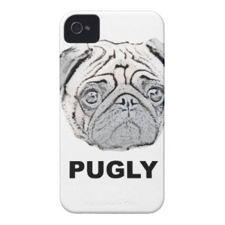 PUGLY the cute and ugly pug iPhone 4 Cases