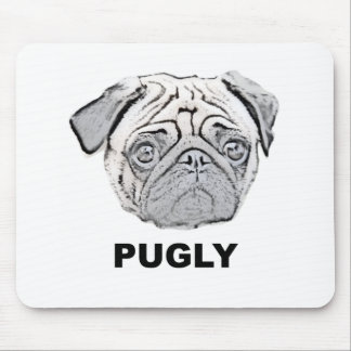 PUGLY the cute and ugly pug Mouse Mat