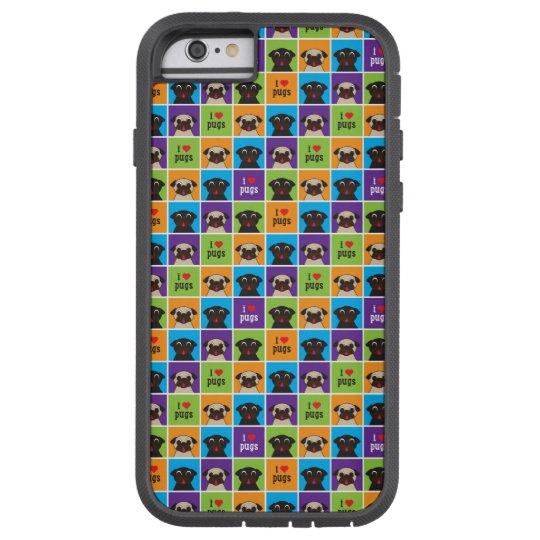 Pugnacious Gifts I Love Pugs iphone 6 Case