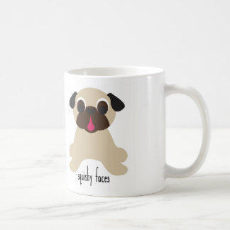 Pugnacious Gifts: Squishy Face Curly Tails Pug Mug