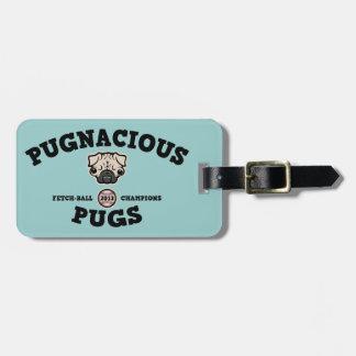 Pugnacious Pugs Luggage Tag