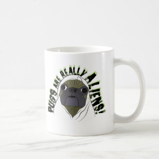 pugs aliens coffee mugs