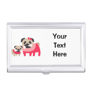 Pugs and Bones Business Card Holders