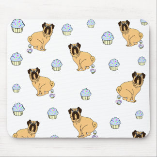 Pugs And Cupcakes Mousepad