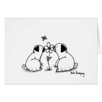 Pugs and Flower Card