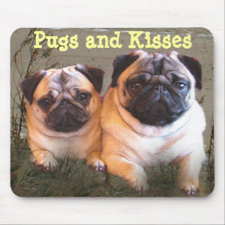 Pugs and Kisses Mousepad