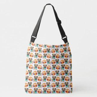 Pugs and Peace Symbols Tote Bag