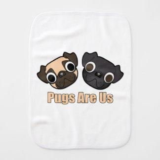 Pugs Are Us burp Cloth