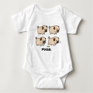 PUGS baby bodysuit jersey