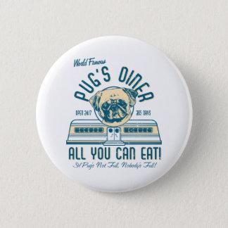Pug's Diner 50s Retro Vintage Buttons