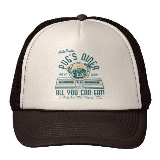Pug's Diner 50s Vintage Retro Hat (fawn pug)