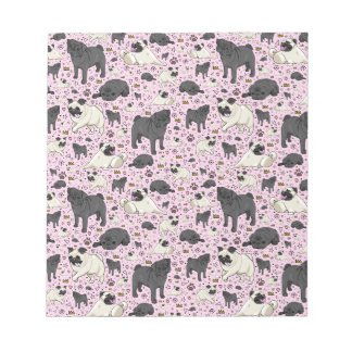 Pugs in Pink Notepad