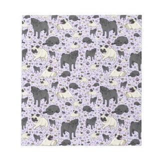 Pugs in Purple Notepad