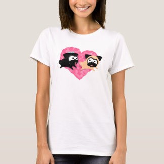 Pugs & Kisses Heart Tee